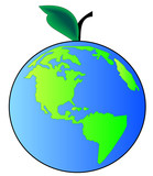 concept apple earth or beginning of creation poster