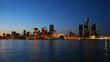 City skyline at night - Detroit, Michigan