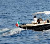charter open motor yacht poster