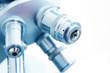 Leinwanddruck Bild - Microscope in lab