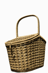 The basket for picnic,  isolated