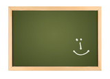 chalk board with smilie poster