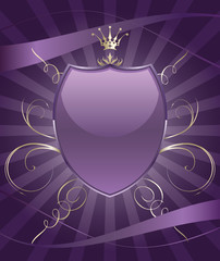 Beautiful brightly party shield emblem