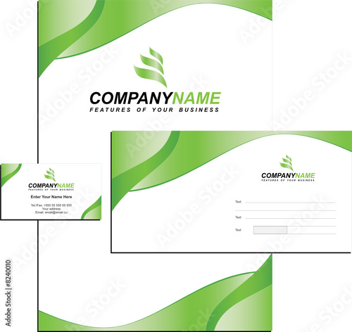 This is a modern business card template with an abstract blue background.
