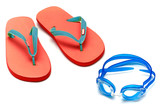 sandals and goggles poster
