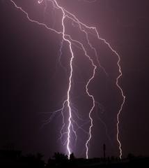 thunderbolt in the sity