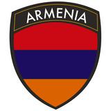 armenia crest e bandiera poster