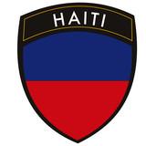 haiti vetor crest con flag poster