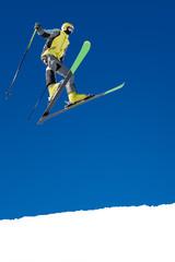 Skier on jump