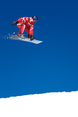 Snowboarder on jump