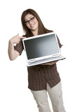 Businesswomen with Laptop poster