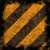 Grunge Hazard Stripes poster