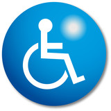 Disabled Sign button poster