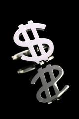 silver dollar cufflinks