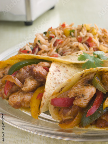 Chicken Fajita Wraps with Jambalaya