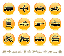 Transport icons, buttons 3