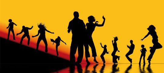 silhouettes - fête et danse