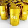 gold oil barrels