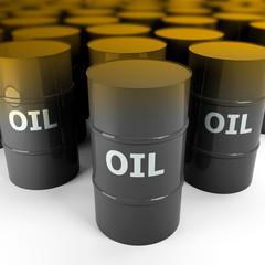 3d image of golden oil barrel