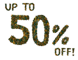 Butterfly  50% off sale sign