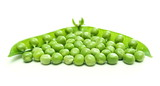 Green pea pod and seeds poster