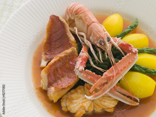 Bowl of Bouillabaisse Restaurant Style