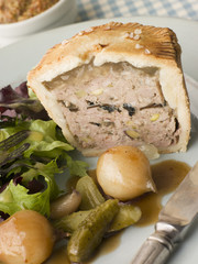 Pork, Black Truffle and Pistachio Pie