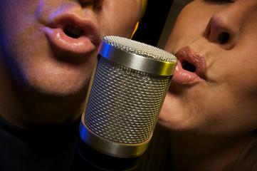 Couple Singing Duet