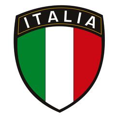 scudetto italia con bandiera