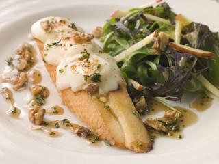 Cherve en Croute with an Apple Salad