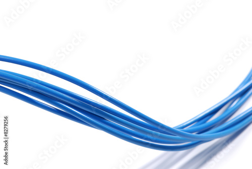 Leinwandbild Motiv Blaue Kabel
