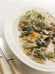 Dover Sole 'Normande' with Herb Rice