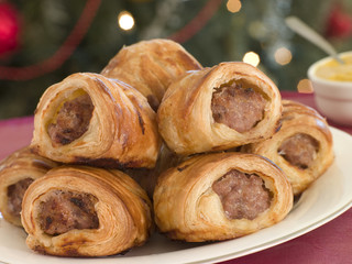 Sausage Rolls and English Mustard