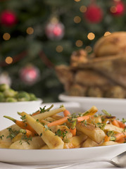 Roasted Parsnips and Baby Carrots