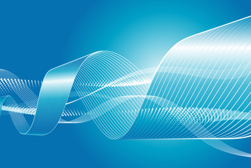 Blue Abstract flowing background, vector illustration layered.