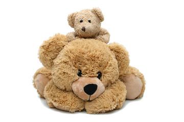 Un ours en pelluche et son ourson