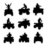 Fototapety ATV silhouettes