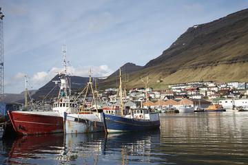 Faroe Islands, Klaksvík, harbour