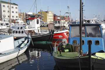 Faroe Islands, Thorshavn, harbour