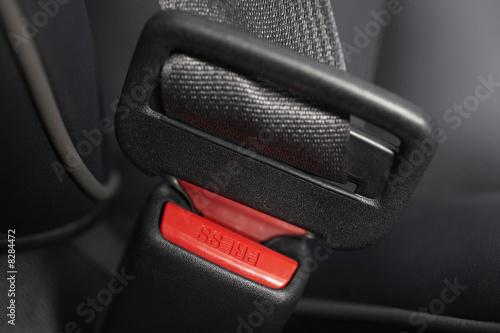 Fastened seat belt, close-up