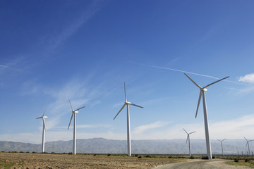Wind turbines in desert