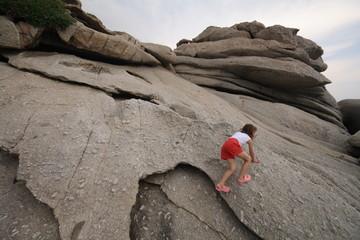 gioco sulle rocce