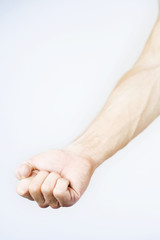 A male nude, clenched hand