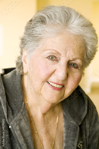 Portrait of an elderly woman