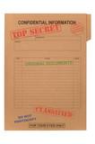 Top Secret Confidential file poster