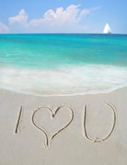 I Love You on Sand
