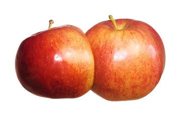 double apple on white