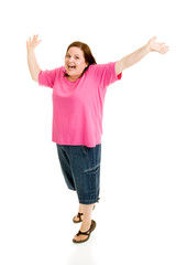 Plus Sized Model - Jump For Joy