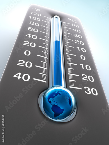 Temperature of the Planet Earth. Greenhouse Effect. - 8294692