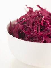 Bowl of Pickled Red Cabbage